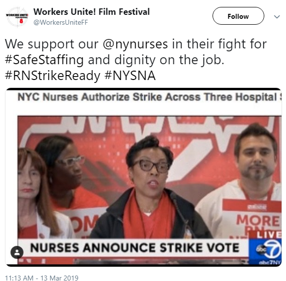 workers unite tweeted support